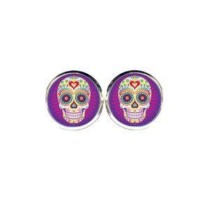 Sugar Skull Earrings - Day of the Dead, Halloween
